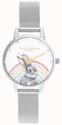 Olivia Burton 彩虹兔子,金和银网 OB16WL89