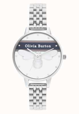 Olivia Burton |女装|大学幸运蜂|银手镯| OB16VS07