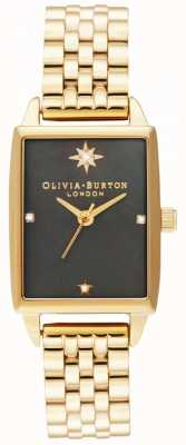 Olivia Burton |天体|黑色珍珠贝母表盘|金手链 OB16GD60