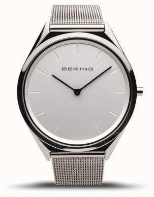 Bering |男女通用超薄|抛光银网状手链| 17039-000