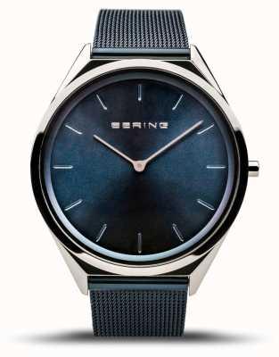 Bering |男女通用超薄|蓝色网眼手链| 17039-307