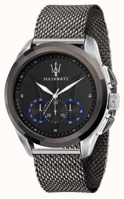 Maserati 特拉瓜多 |灰色钢网手链|黑色表盘 R8873612006