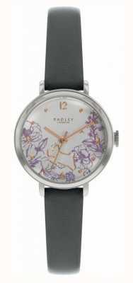 Radley |妇女的黑色皮革表带|印花表盘| RY2979