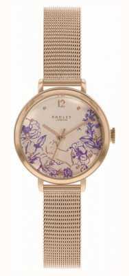 Radley |女士玫瑰金网眼手链|印花表盘 RY4524