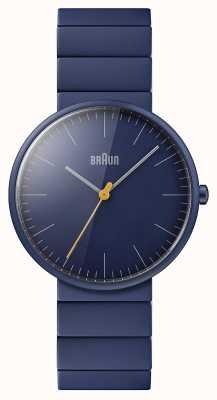 Braun 男士 |经典|蓝色陶瓷手链|蓝色表盘 BN0171NVNVG