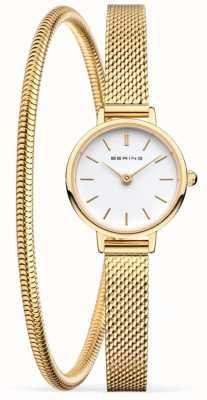 Bering 母亲节礼物套装|金网手表和手链 11022-334