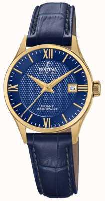 Festina 女士瑞士制造|蓝色皮革表带|蓝色表盘 F20011/3