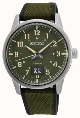 Seiko 概念性男士石英卡其色绿色 SUR323P1