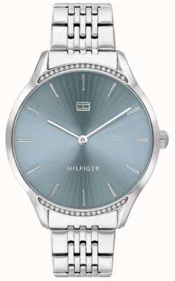 Tommy Hilfiger |女式灰色|不锈钢手链|蓝色表盘| 1782210