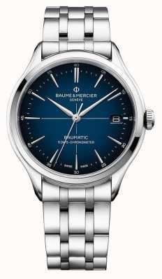Baume & Mercier |克利夫顿鲍马蒂|不锈钢手链|蓝色表盘| M0A10468