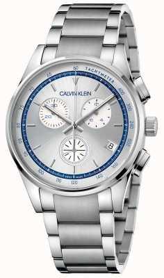 Calvin Klein |完成|不锈钢手链|银色/蓝色表盘| KAM27146