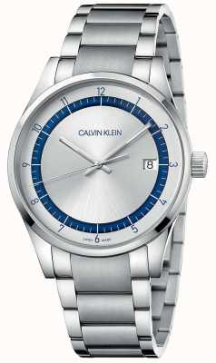 Calvin Klein |完成|不锈钢银手链|银色表盘 KAM21146