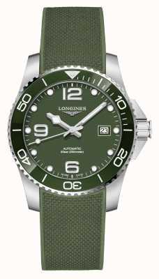 Longines 加水战役41毫米 绿色表盘 橡胶表带 L37814069