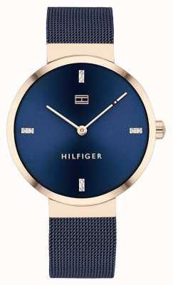 Tommy Hilfiger |妇女的自由|蓝色网眼手链|蓝色表盘| 1782219
