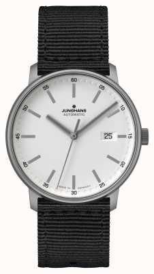 Junghans 形成 泰坦自动 北约黑色表带 白色表盘 027/2000.00