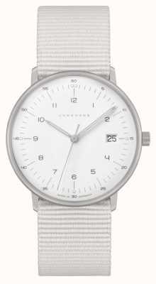 Junghans Max Bill Damen  白色尼龙表带 白色表盘 047/4050.04