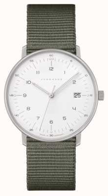 Junghans Max Bill Damen |灰色尼龙表带|白色表盘 047/4051.04
