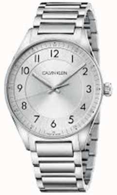 Calvin Klein |明亮不锈钢手链|银表盘| KBH21146
