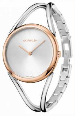 Calvin Klein 女士|不锈钢手链|银表盘| KBA23626