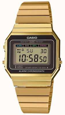 Casio |集合|镀金钢手链|数字表盘 A700WEG-9AEF