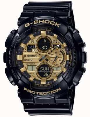 Casio G-shock世界时间|黑色橡胶表带| GA-140GB-1A1ER
