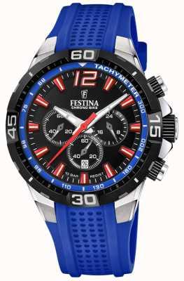 Festina 计时自行车2020黑色表盘蓝色表带 F20523/1