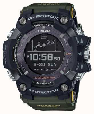 Casio Rangeman GPS太阳能可充电绿色表带 GPR-B1000-1BER