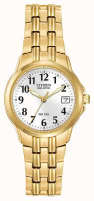 Citizen 女式手链镀金生态驱动器 EW1542-59A