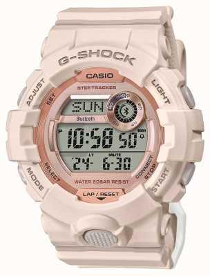 Casio G-shock | g队|粉色橡胶表带|蓝牙 GMD-B800-4ER