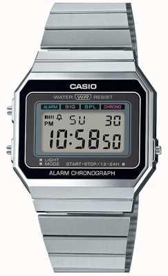 Casio 年份|银手镯|数字表盘| A700WE-1AEF