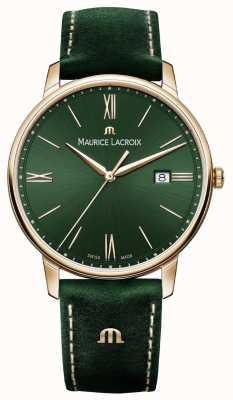 Maurice Lacroix Elrios烟熏绿色皮革表带,镀金表壳 EL1118-PVP01-610-1