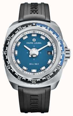 Favre Leuba 突袭者深蓝41 |黑色橡胶表带|蓝色表盘| 00.10106.08.52.31