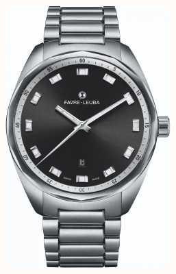 Favre Leuba 天空首席日期|不锈钢手链|黑色表盘 00.10201.08.11.20