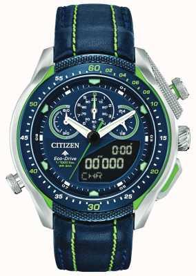 Citizen Promaster sst |世界时间|蓝色皮革表带 JW0138-08L