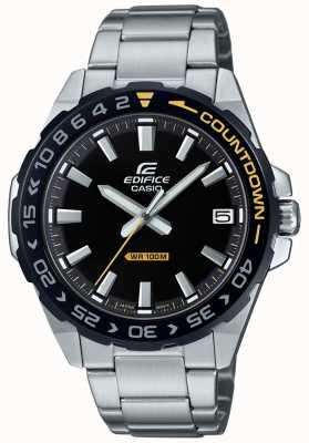 Casio 男士黑色表盘黑色/黄色表圈 EFV-120DB-1AVUEF