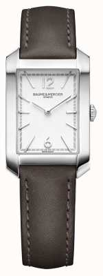 Baume & Mercier 汉普顿夫人|乳白色表盘| liqourice皮革表带 M0A10471