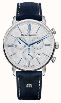Maurice Lacroix Eliros计时码表|蓝色皮革表带|银色表盘 EL1098-SS001-114-1