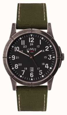 Limit 男士绿色帆布表带|黑色表盘|合金外壳 5790.01