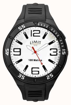 Limit 男士黑色橡胶表带|白色表盘 5796.65