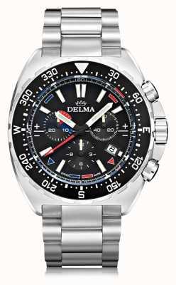 Delma Oceanmaster石英计时码表|不锈钢手链 41701.678.6.038