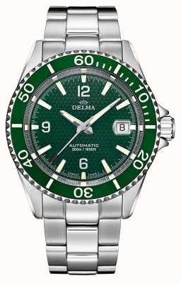 Delma 圣地亚哥自动|不锈钢手链|绿色表盘 41701.560.6.144