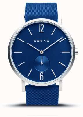 Bering 真正的极光|蓝色橡胶表带|蓝色表盘 16940-709