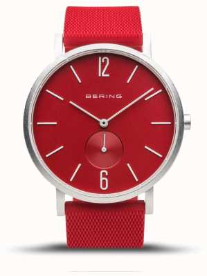 Bering 真正的极光|红色橡胶表带|红色表盘 16940-509
