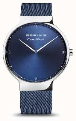 Bering Maxrené|抛光银|蓝色网眼带 15540-307