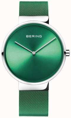 Bering 经典|绿色网眼表带|绿色表盘 14539-808