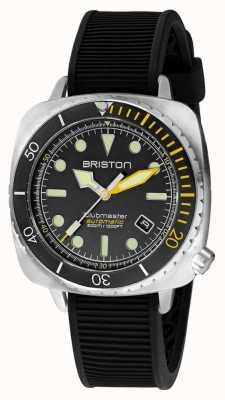 Briston Clubmaster潜水员专业钢|黑色橡胶表带|黑色表盘 20644.S.DP.34.RB