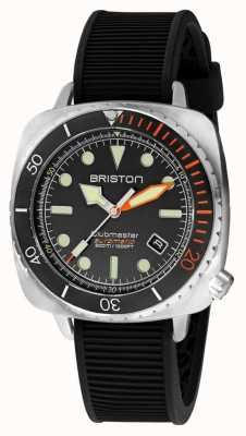 Briston Clubmaster潜水员专业钢|黑色橡胶表带|黑色表盘 20644.S.DP.35.RB