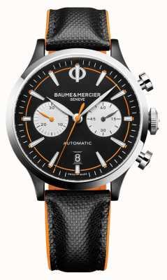 Baume & Mercier 开普兰|男装自动|黑色皮革|黑色表盘 M0A10451