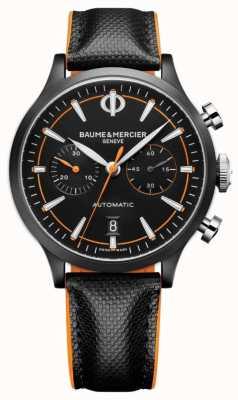 Baume & Mercier 开普兰|男装自动|黑色皮革|黑色表盘 M0A10452