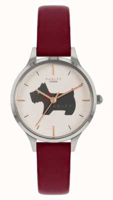 Radley 子午线广场|红色皮革表带|狗图案表盘 RY2973